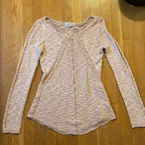 Peplum style sweater